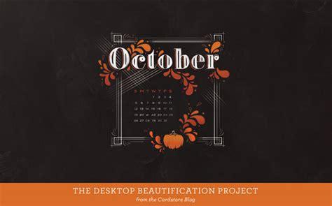 october  calendar desktop wallpaper wallpapersafari