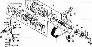 Honda Motorcycle 1982 Oem Parts Diagram For Primary Shaft