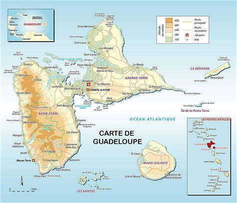 Carte Geographique Du Monde Guadeloupe by Carte De Guadeloupe