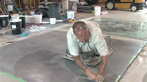 Concrete Resurfacing   Skimcoat Overlay Application   YouTube