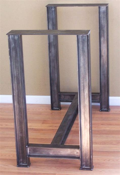 kitchen table bases metal industrial steel i beam bar base kitchen island by