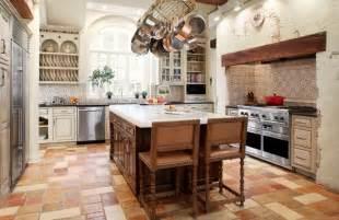 kitchen backsplash travertine tile rustic farmhouse kitchen