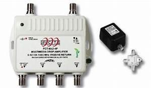 4 Port Cable Tv  Hdtv  Digital Amplifier Internet Modem