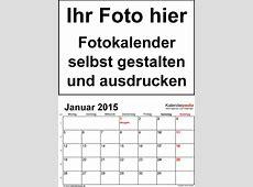 Fotokalender 2015 als WordVorlagen zum Ausdrucken kostenlos