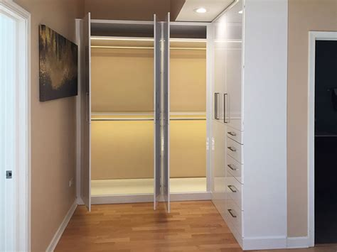 wall closets with custom closet lighting solutions for l