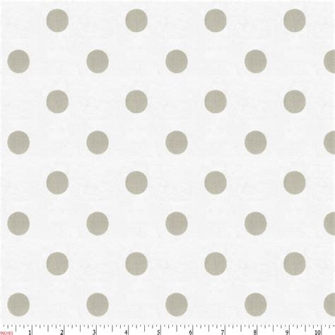 mini crib white and taupe polka dot fabric by the yard taupe