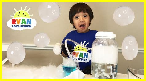dry ice boo bubbles science experiments  kids