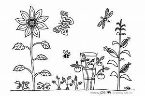 Made by Joel » Vegetable Garden Coloring Sheet!