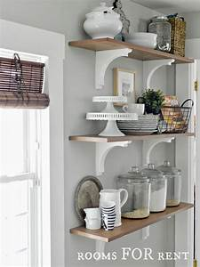 open shelves in the kitchen greyt on the walls With kitchen colors with white cabinets with metal owl wall art