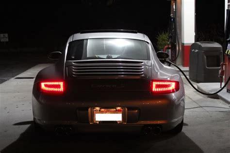 porsche headlights at night 997 1 dectane led lights installed rennlist porsche