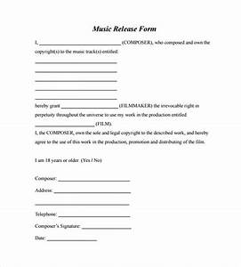 sample music release form 10 download free documents in pdf With music video release form template