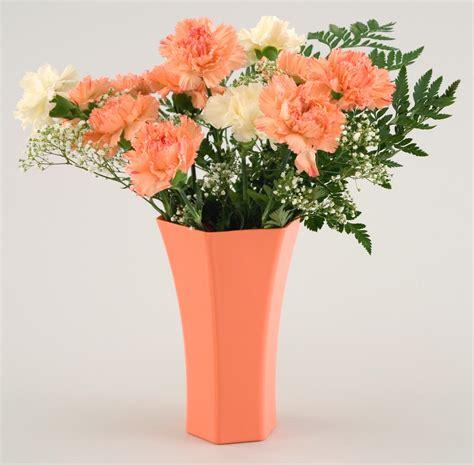 """8"""" Hexagon Plastic Flower Vase"""