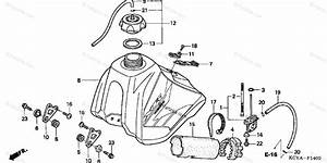 Honda Motorcycle 2004 Oem Parts Diagram For Fuel Tank