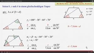 Mathe Flächeninhalt Berechnen : trapez gleichschenkliges trapez aufl sung nach a mathelounge ~ Themetempest.com Abrechnung