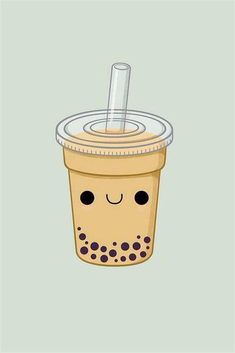 Putting the tea in boba tea. Pearl milk tea wallpaper cute | Cute food drawings, Cute ...