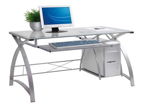 white computer desk with glass top modern glass computer desk amazing full size of glass