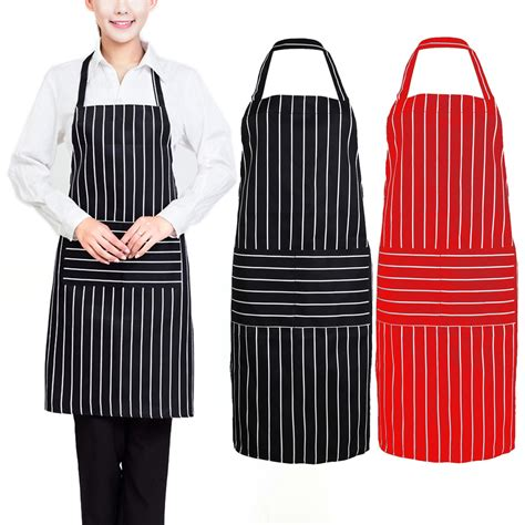 Kitchen Aprons by Black Creative Stripe Kitchen Apron For