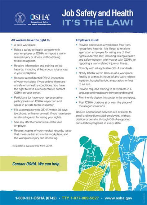 oshas workplace poster english version publication