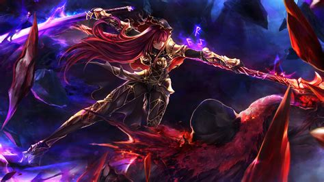 scathach fategrand order warrior anime girl