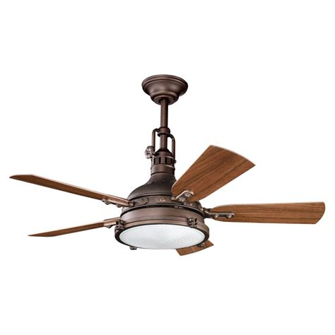 outside patio ceiling fans shop kichler hatteras bay patio 44 in weathered copper