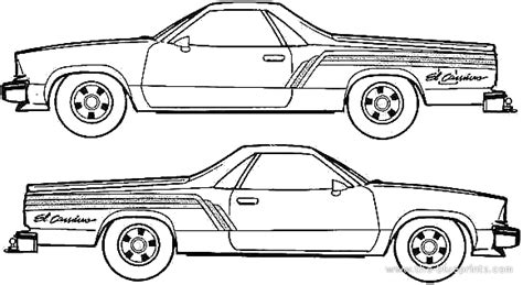 M chevrolet el camino coloring pages coloring pages