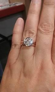 Real Engagement Rings Moissanite Weddingbee