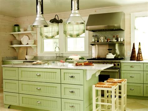 Green Kitchen Cabinets Calming Room Nuances  Traba Homes