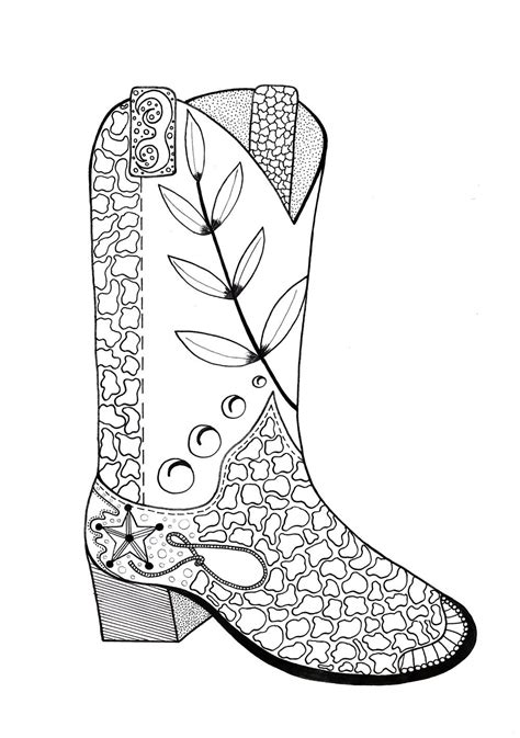 cowboy coloring pages cowboy boot coloring page favecrafts