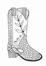 Coloring Cowboy Boot Adult Pages Boots Drawing Line Colouring Cowgirl Printable Cowboys Books Cowgirls Adults Hat Drawings Getdrawings Read Paintingvalley sketch template