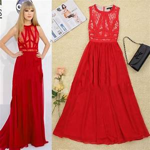 HOT!HOT!HOT!New In Europe Celebrity Fashion Lace Maxi ...