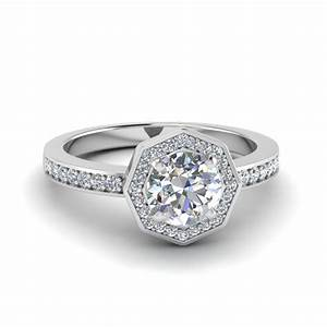Alluring pave micropave set engagement rings for Pave wedding rings
