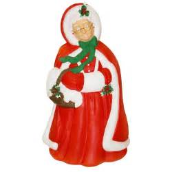 lighted decorations molded mrs claus decoration made in usa