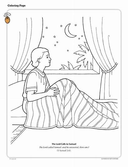 Coloring Samuel Pages Sky Night God Lds