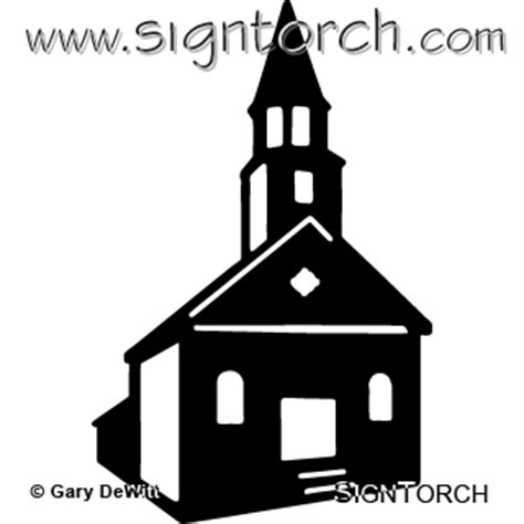 church  signtorch turning images  vector cut