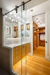 agencement salle de bain avec douche et baignoire With chambre avec salle de bain et dressing