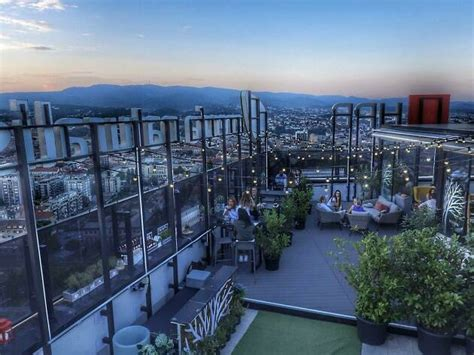 rooftop lateral bars  pubs  zagreb croatia