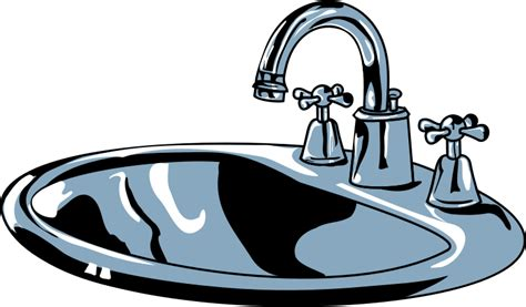 white kitchen sink faucet clipart sink