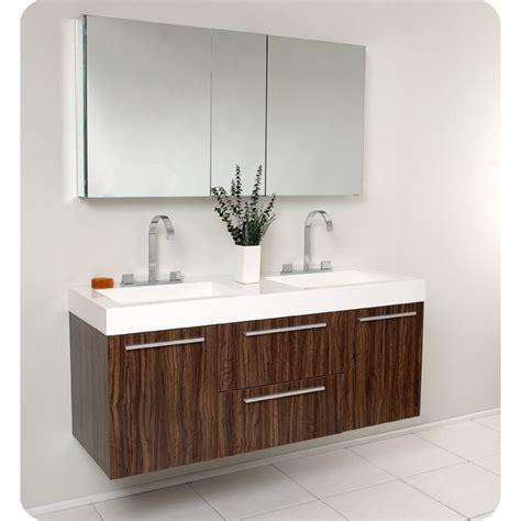 modern double sink vanity fresca opulento walnut modern double sink bathroom vanity