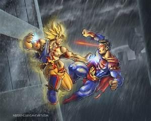Image - Goku vs. Superman.jpg - VS Battles Wiki