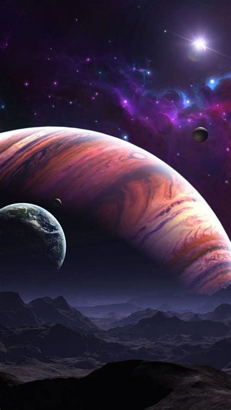 Space Star Planet Hd Desktop Wallpapers Android