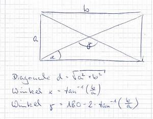 Winkel Berechnen übungen Mit Lösungen : diagonale diagonale und winkel im rechteck mathelounge ~ Themetempest.com Abrechnung