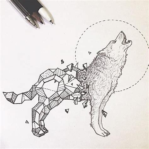 resultado de imagen de geometric wolf wolf art