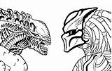 Predator Alien Vs Drawing Coloring Movie Pages Line Sci Fi Printable Sketch Getdrawings Funny Print Categories sketch template