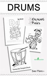 Coloring Drums Pages Play Chimes Wind Drum Little Colouring Don Way Why sketch template