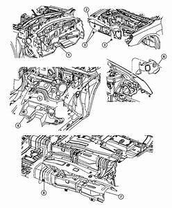 Dodge Avenger Stuffer  Right  Between Wheel Well Brace And