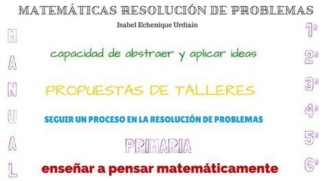 Resolución De Problemas Matemáticos En Educación Primaria