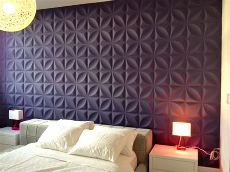 stupendous upholstered wall panels  beds  purple textured wall panels design popular home interior decoration