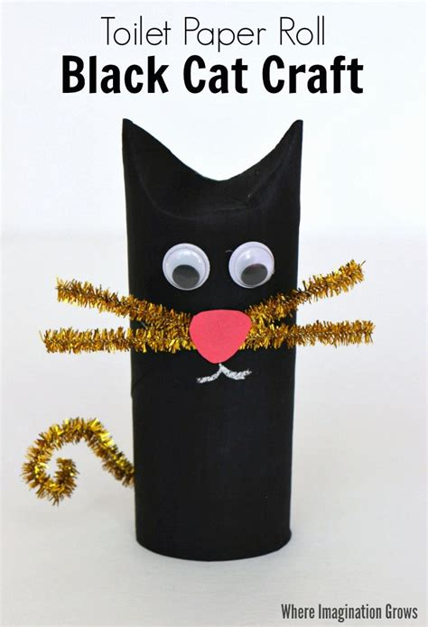 toilet paper roll black cat craft for where 611   Toilet Paper Roll Cat Craft halloween1