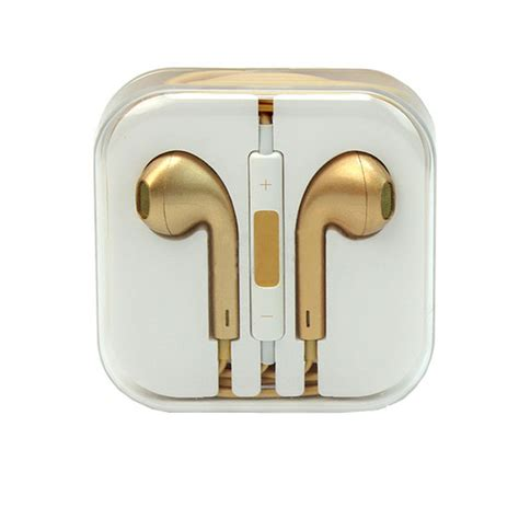 gold iphone headphones gold earphones for iphone 5 5c 4s ipod nano w remote