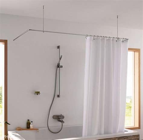 duschvorhangstange badewanne u form phos dsu duschvorhang halterung f 252 r badewanne und dusche in u form